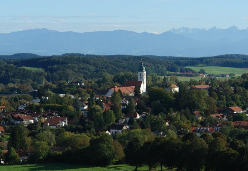 Das idyllische Ebersberg im Voralpenland östlich von München.