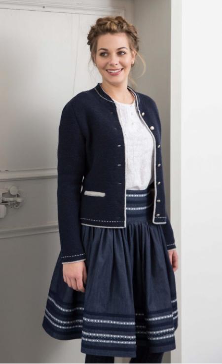 Ausgefallener Trachtenrock mit passender Jacke von Berwin & Wolff.