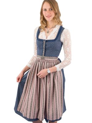 Midi Dirndl Wenger Polly Stretch blau