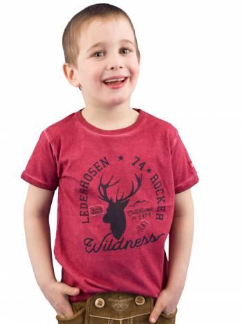 Kinder Trachten T-Shirt Lederhosen Rocker
