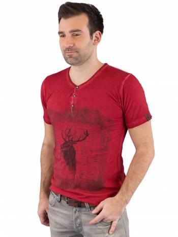 Trachten T-Shirt rot Hirsch